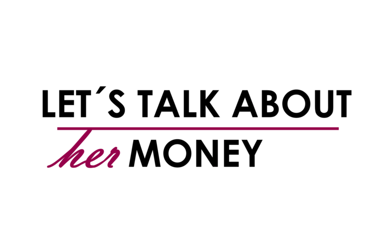 Logo Let's talk about her money