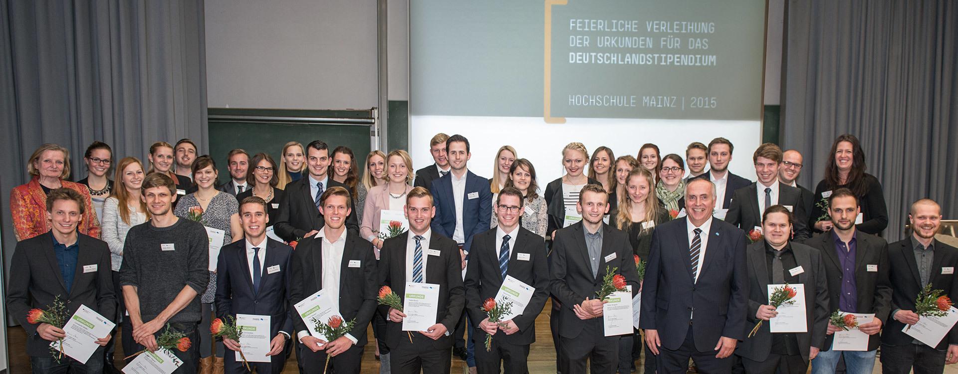 die deutschlandstipendiaten 2016 der hochschule mainz - Bewerbung Deutschlandstipendium